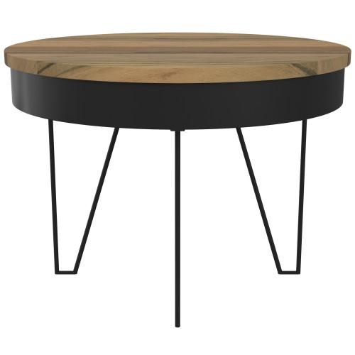 acheter table basse ronde plateau bois