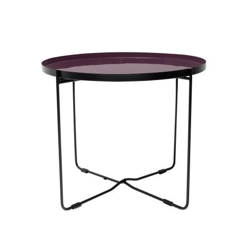 acheter table basse violette ronde