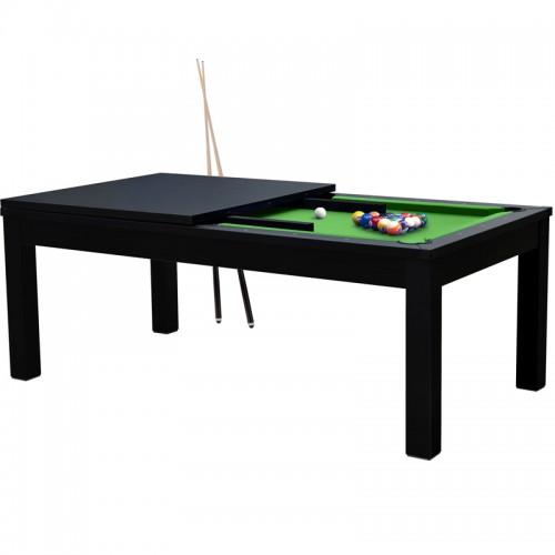 Table de Billard rectangulaire convertible noire tapis vert
