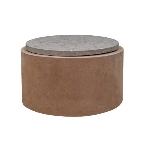 acheter table d appoint 66 cm beton terrazzo
