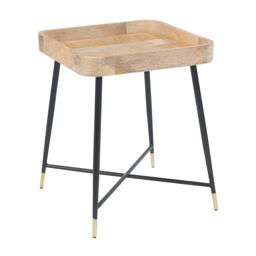 acheter table d appoint en bois carree