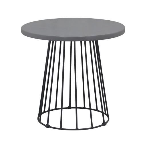 acheter table d appoint en metal et beton plaque
