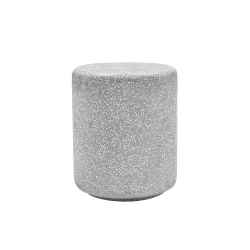 acheter table d appoint en terrazzo gris clair