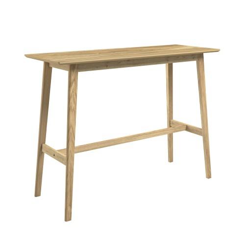 acheter table de bar en bois clair naturel