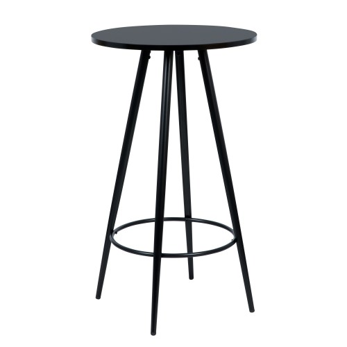Table de bar Garibaldi ronde noire ∅60cm