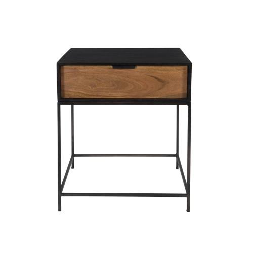acheter table de chevet en bois et metal