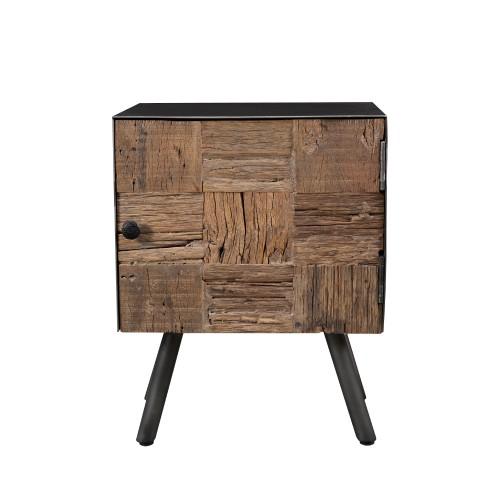 Table de chevet Kuala en bois recyclé