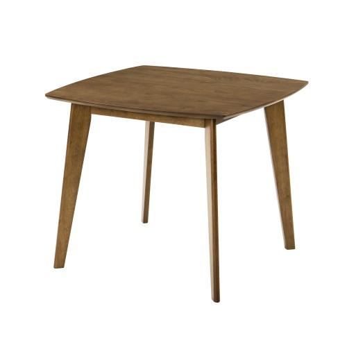 Table carrée Julio 90 cm en bois foncé