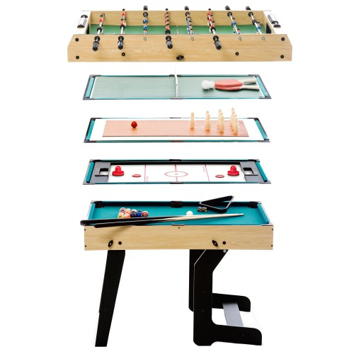 Table multi-jeux pliable Helmi 16 en 1