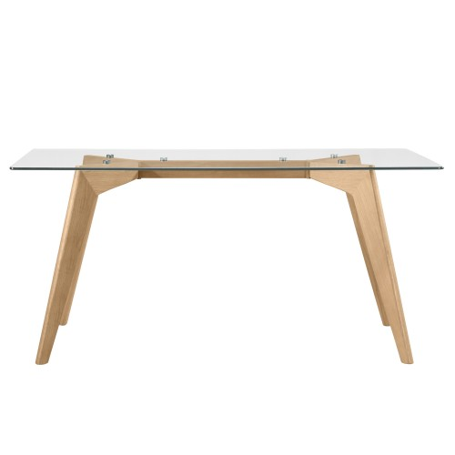 acheter table rectangulaire verre