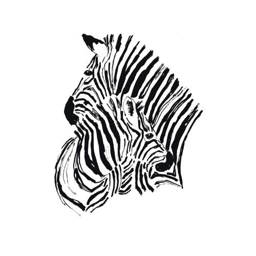 acheter tableau verre 2 zebres