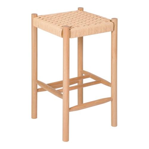 acheter tabouret de bar en bois et corde