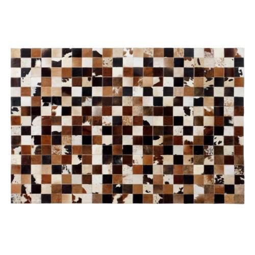 acheter tapis cuir marron