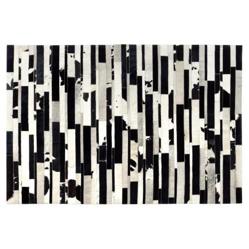 acheter tapis cuir noir et blanc