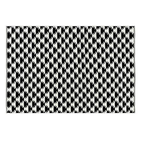 Tapis noir Dino en coton 140x200 cm