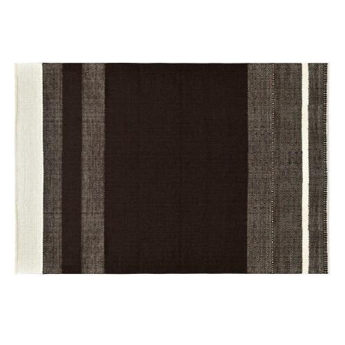 Tapis Lilo en laine et coton marron 140x200 cm