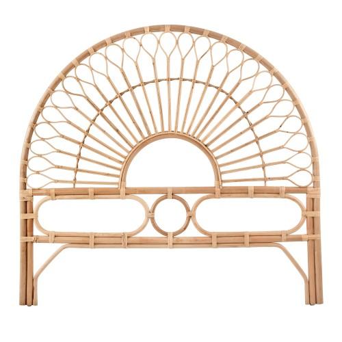 acheter tete de lit en rotin naturel