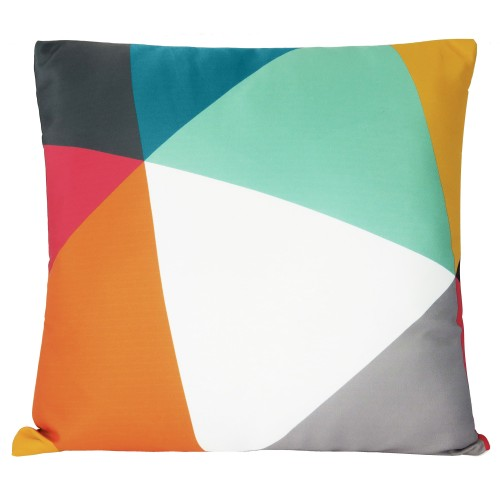 coussin carre graphique multicolore