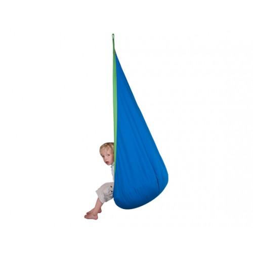 nid hamac tissu bleu