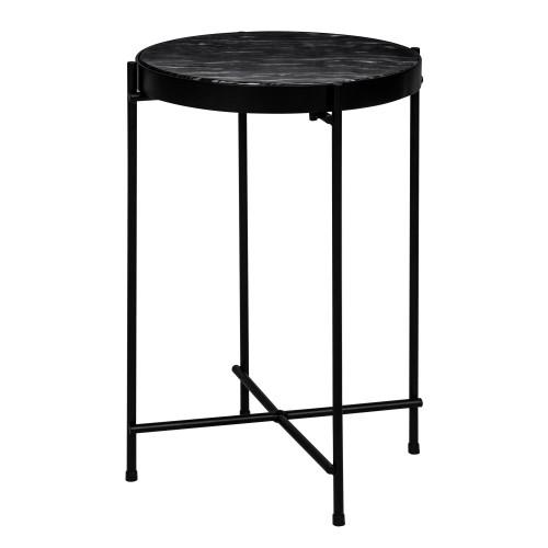 Table Basse Ronde Thilda Slim Marbre Noire Commandez Les Tables
