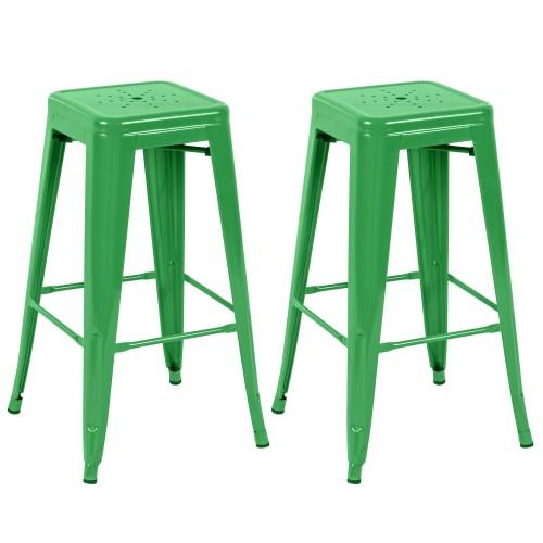 tabouret de bar indus vert