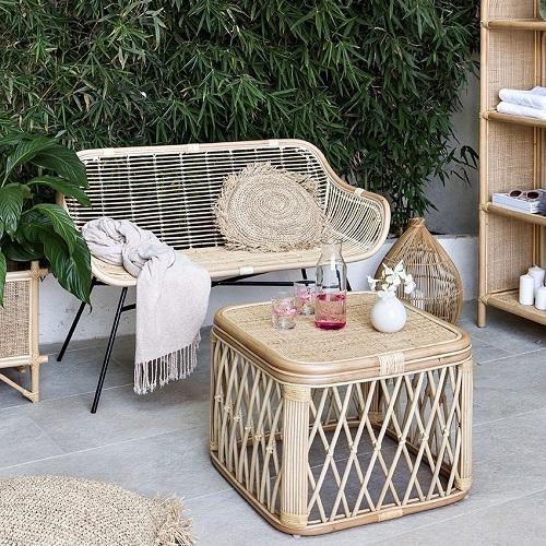 mobilier jardin rotin