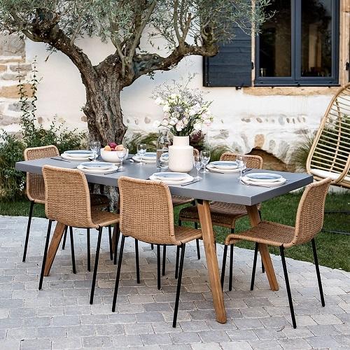 chaise jardin résine tressée