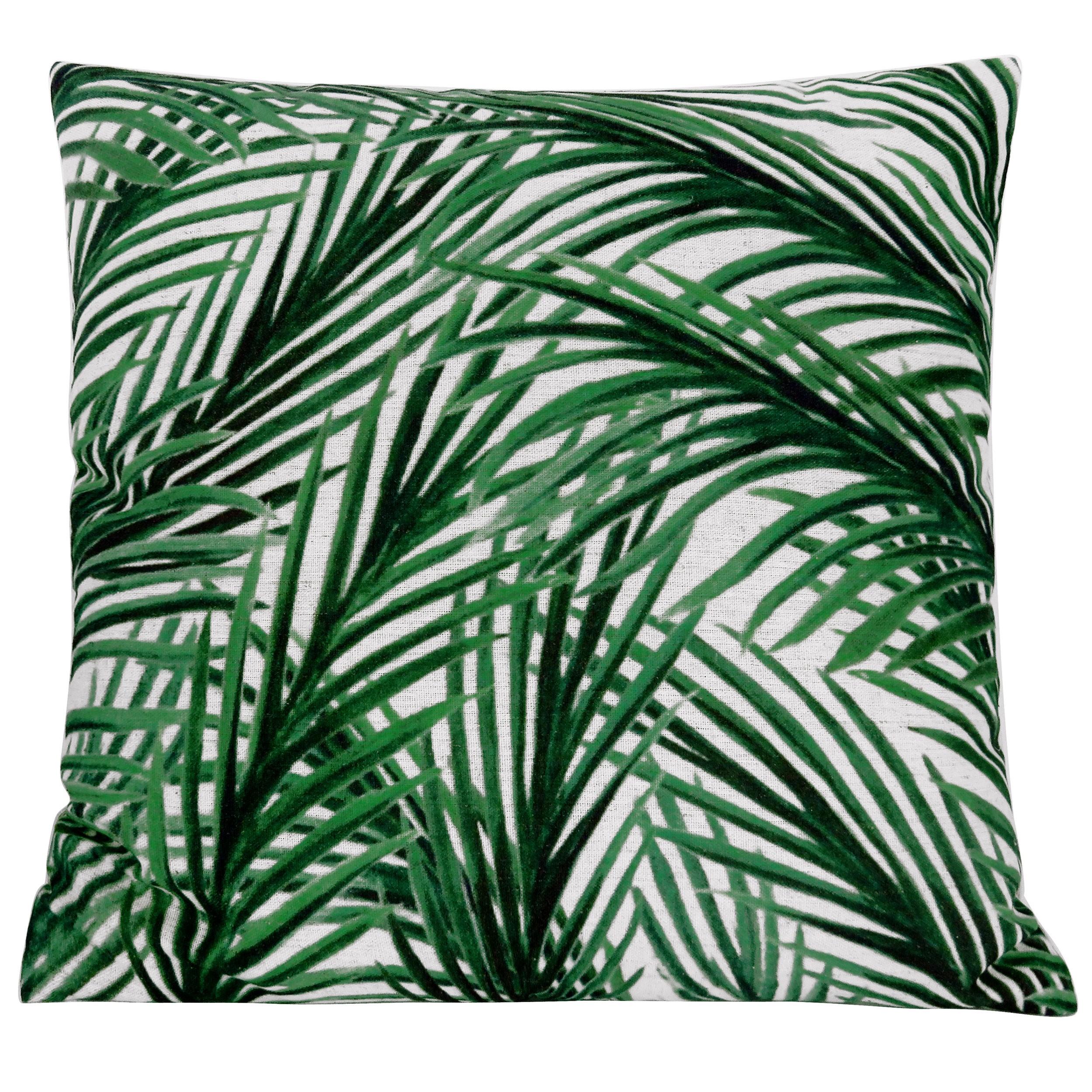 coussin motif jungle