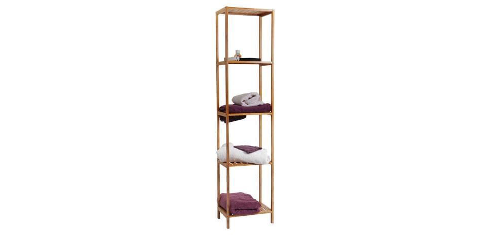 étagère en bambou 4 niveaux