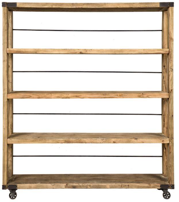 étagère en bois brut