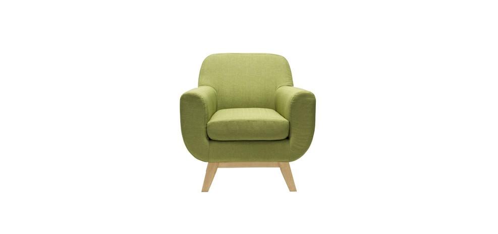 fauteuil rétro vert